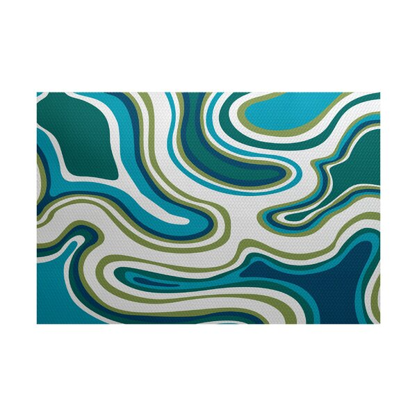 Buenrostro Teal Indoor/Outdoor Area Rug by Latitude Run