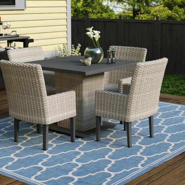 Brennon 5 Piece Dining Set by Sol 72 Outdoor