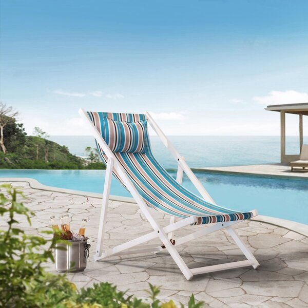Dugger Sunjoy Belton Reclining/Folding Beach Chair by Highland Dunes Highland Dunes