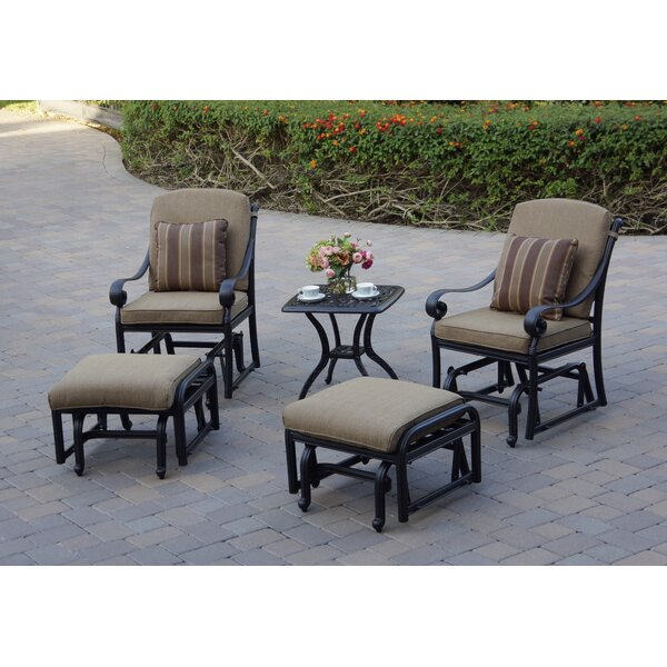 Windley 5 Piece Seating Group with Cushions by Fleur De Lis Living