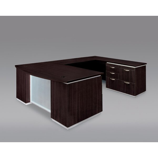 Pimlico Right Personal File U-Shape Executive Desk by Flexsteel Contract