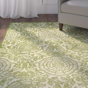 Covedale Hand-Woven Green Indoor/Outdoor Area Rug