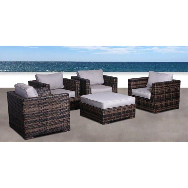Pierson Resort 5 Piece Patio Chair Set with Cushions by Brayden Studio