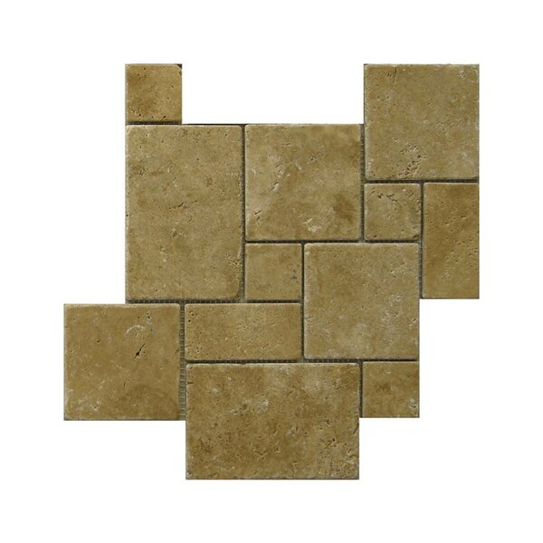 Tumbled Natural Stone Mosaic Tile in Noce by QDI Surfaces
