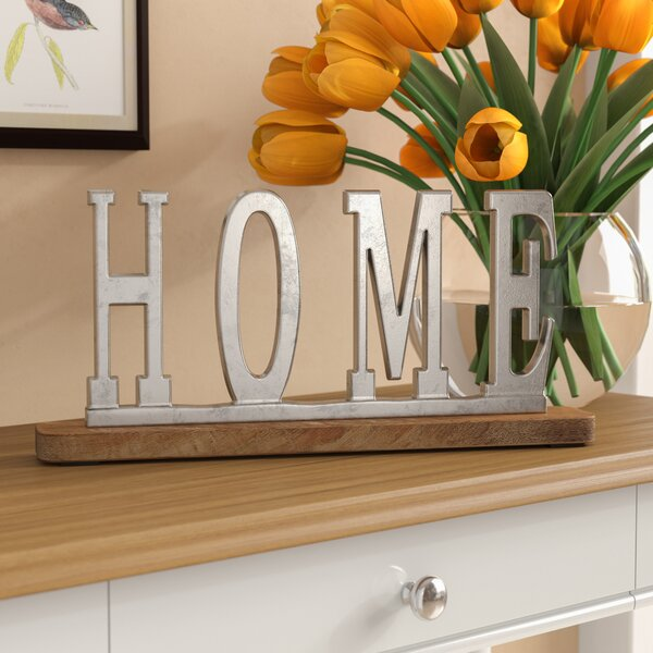 Silver Home Letter Block by Alcott Hill