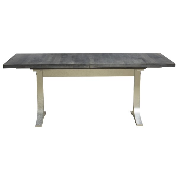 Bjorn Burnished Extendable Solid Wood Dining Table by 17 Stories
