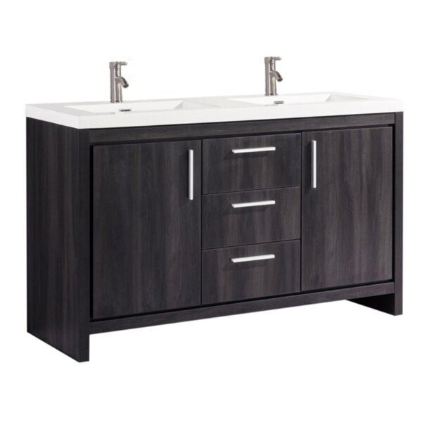 Peiffer Modern 59 Double Bathroom Vanity Set