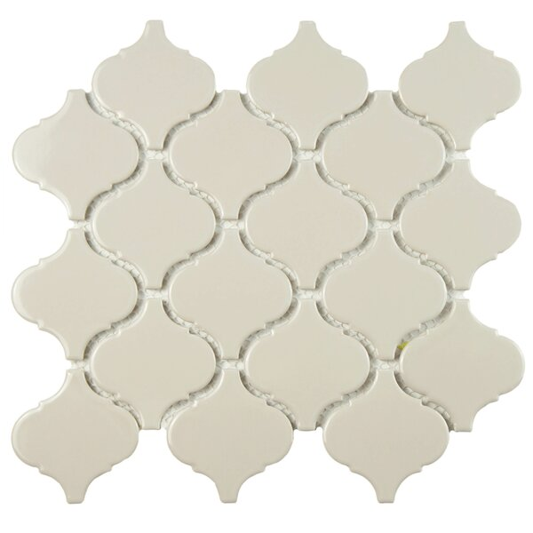 Retro Lantern 2.87 x 3.06 Porcelain Mosaic Tile in Glossy Gray by EliteTile