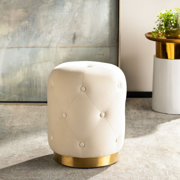 Springtown Round Tufted Ottoman by Everly Quinn