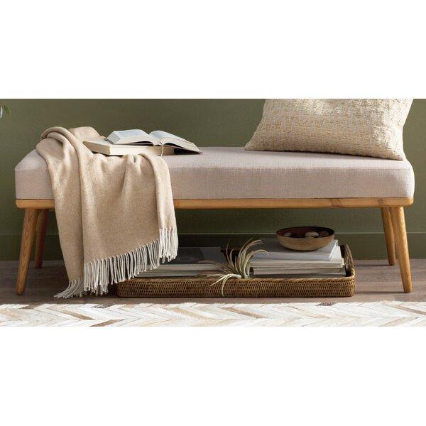 Trinh Wood Bench by Mistana
