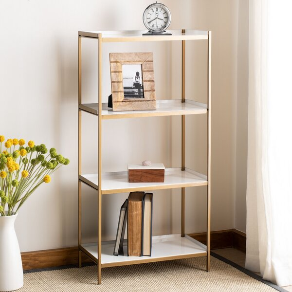 Enamel Etagere Bookcase By Everly Quinn