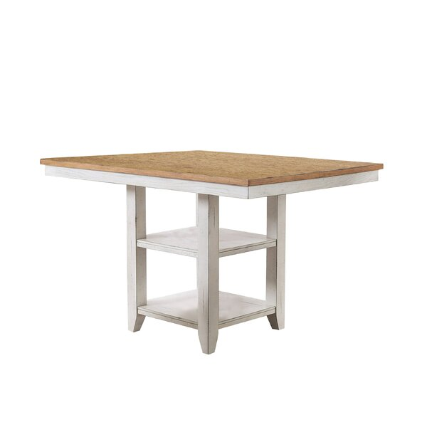 Krueger Counter Height Solid Wood Dining Table by Rosecliff Heights Rosecliff Heights