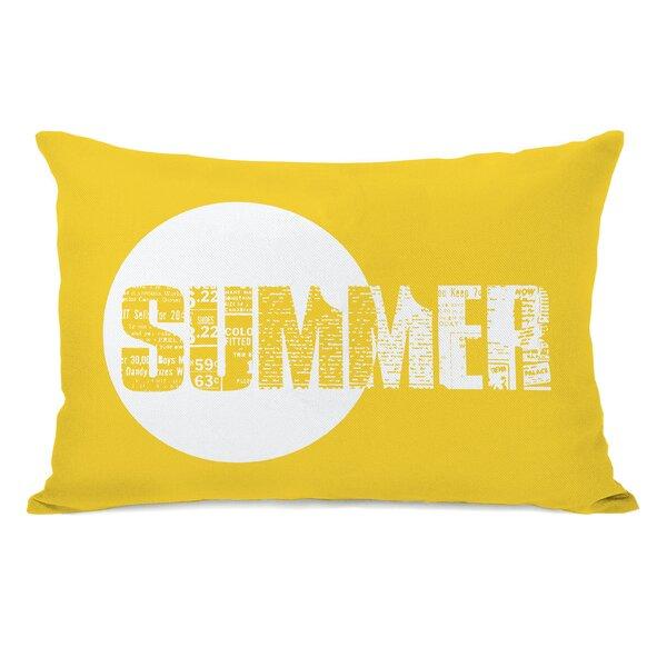 Summer Text Lumbar Pillow by One Bella Casa