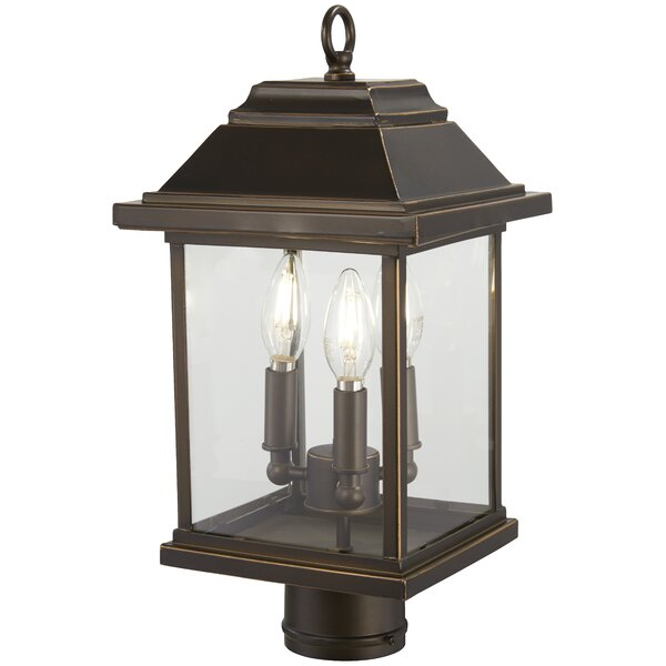 Duplantis Outdoors 3-Light Lantern Head by Charlton Home