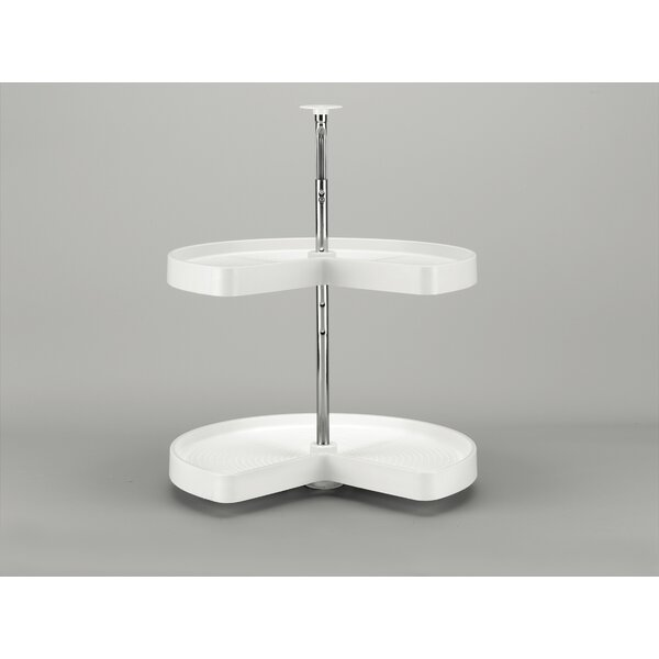 Polymer Kidney 2 Shelf Lazy Susan by Rev-A-Shelf