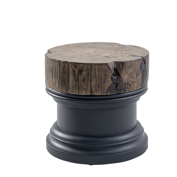 Jarrell Stone/Concrete Side Table by Union Rustic