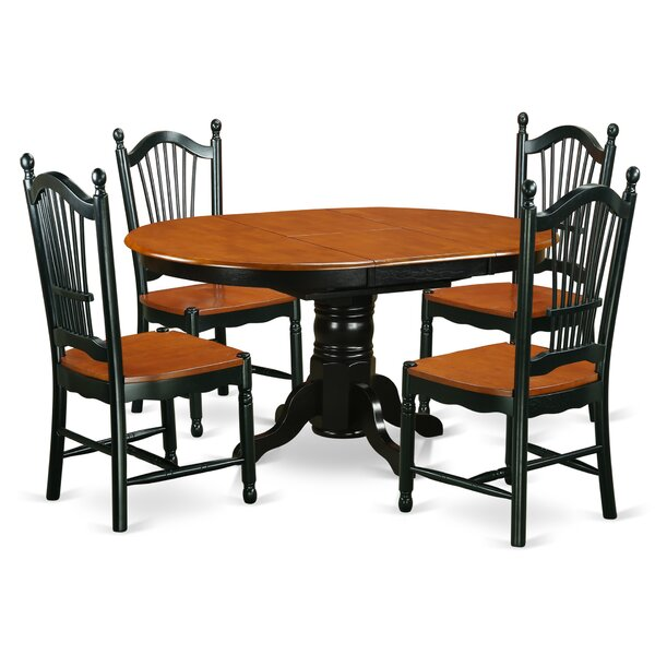 Aimee 5 Piece Solid Wood Dining Set By August Grove