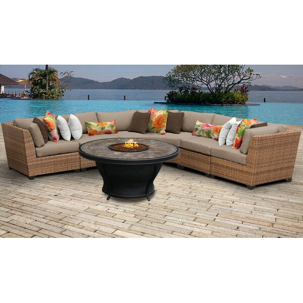 Waterbury 5 Piece Sectional Seating Group with Cushions by Sol 72 Outdoor