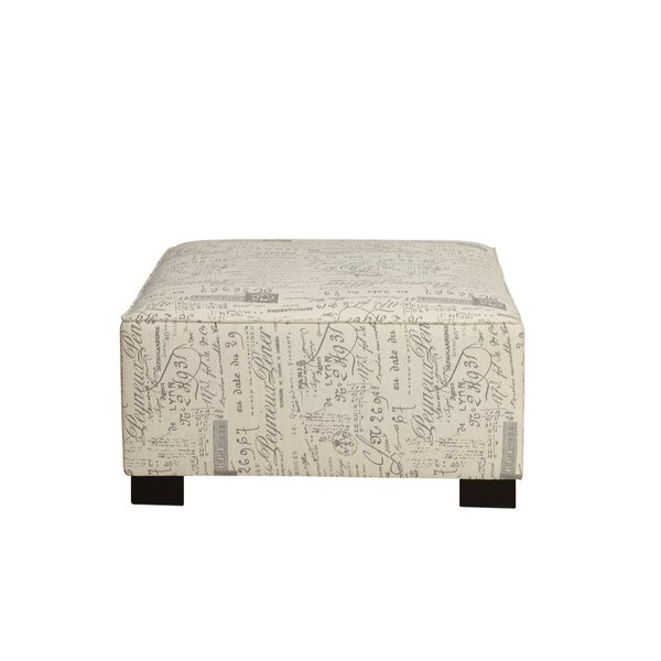 Laperle Printed Pattern Fabric Ottoman by Ophelia & Co.