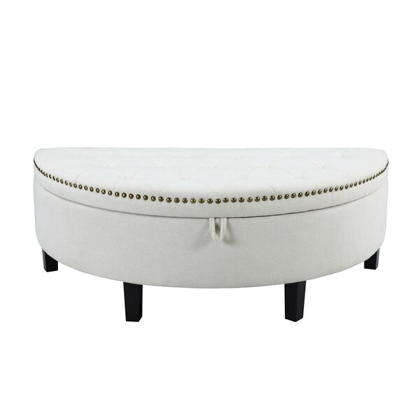 Jacqueline Button Tufted Storage Ottoman By Iconic Home Best #1
