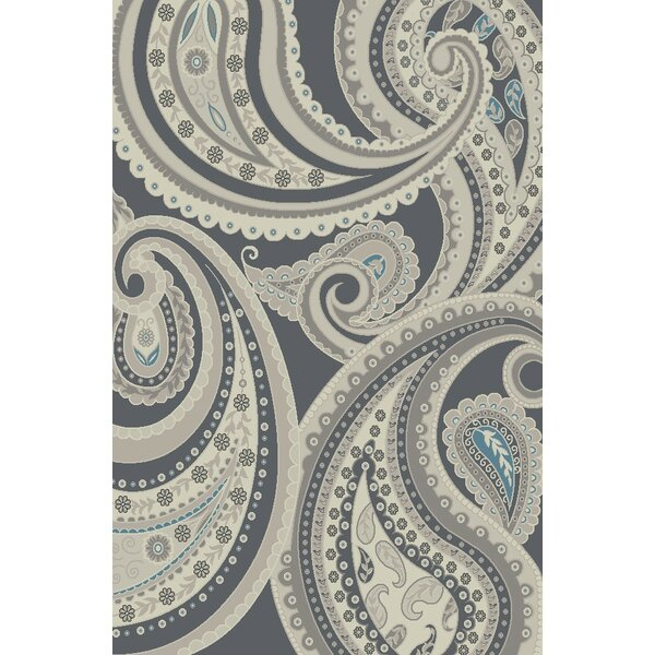 Damron Paisley Gray Area Rug by Red Barrel Studio