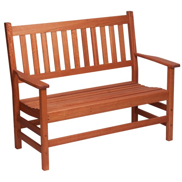 Red Grandis Wood Garden Bench by Hinkle Chair Company