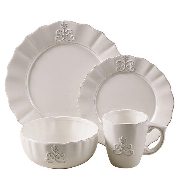 Fleur 16 Piece Dinnerware Set, Service for 4 by Design Guild
