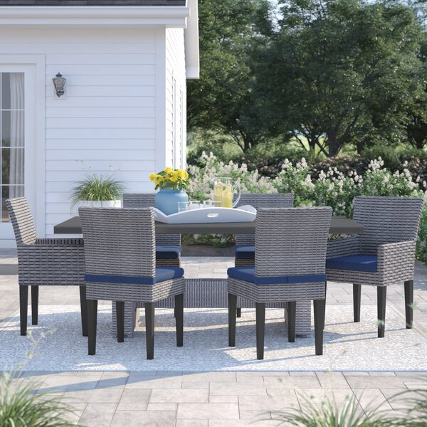Kenwick 7 Piece Outdoor Patio Dining Set with Cushions by Sol 72 Outdoor