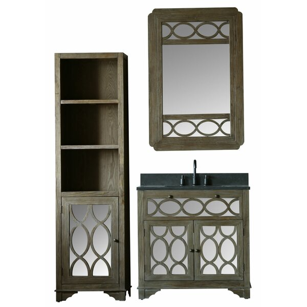 Clarkston 60 Single Bathroom Vanity Set with Mirror by Bungalow Rose
