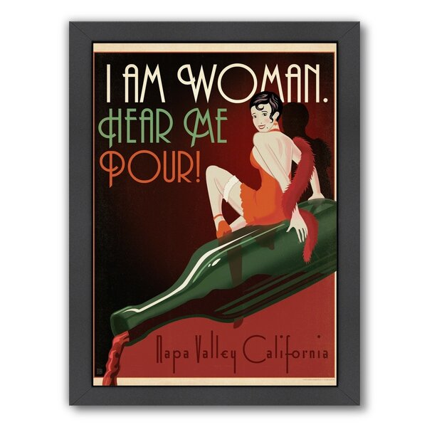 I am Woman Napa Framed Vintage Advertisement by East Urban Home
