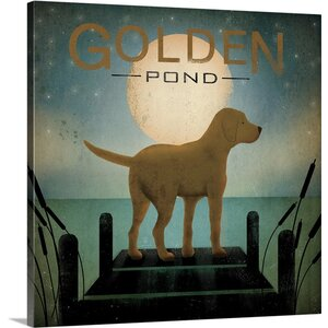 'Moonrise Yellow Dog - Golden Pond' by Ryan Fowler Vintage Advertisement on Wrapped Canvas by Great Big Canvas