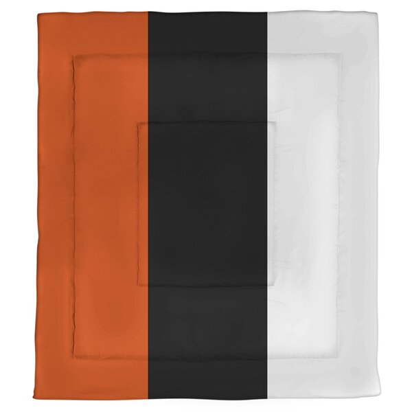 College Stripes Oregon Corvallis Microfiber Single Reversible Comforter