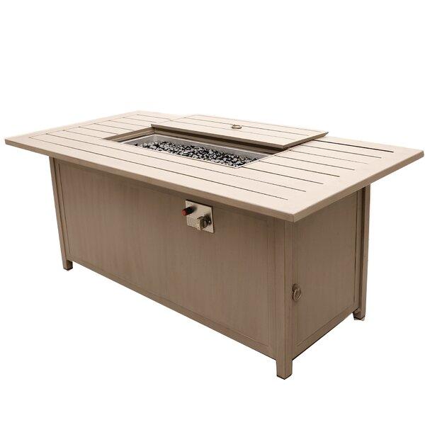 Otega Outdoor Propane Gas Fire Pit Table by Orren Ellis