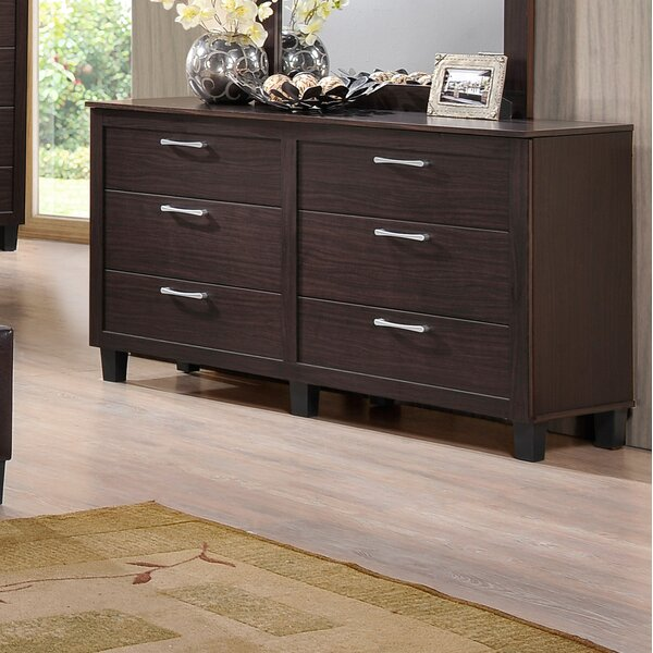 Amelie 6 Drawers Double Dresser by Latitude Run
