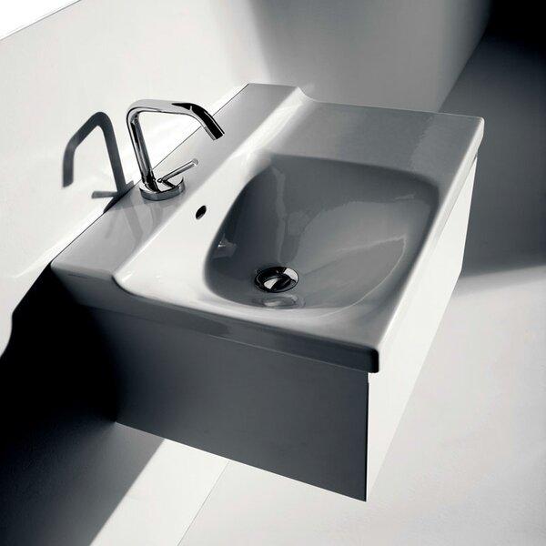 Buddy Ceramic 24 Wall Mount Bathroom Sink by WS Bath Collections