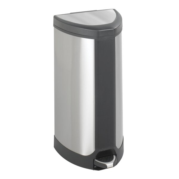 Receptacle 10 Gallon Step On Trash Can by Safco Products Company