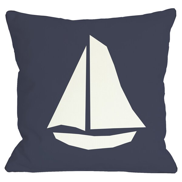 Sailboat Indoor/Outdoor Throw Pillow by One Bella Casa