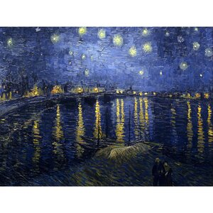 'Starry Night over the Rhone' by Vincent Van Gogh Painting Print on Wrapped Canvas by Oriental Furniture
