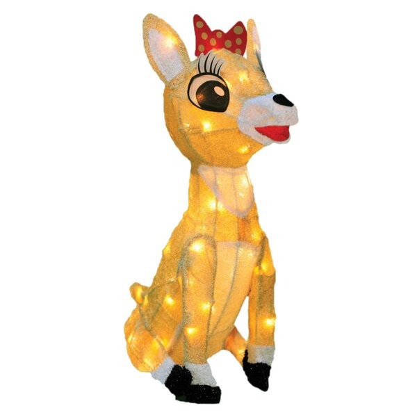 Rudolph The Red Nosed Reindeer Clarice Christmas Lighted Display by The Holiday Aisle