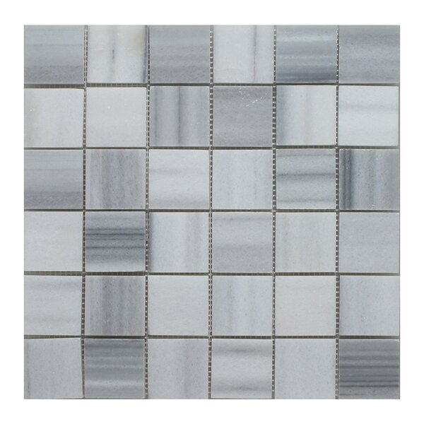 Equator Square 2 x 2 Marble Mosaic Field Tile in Gray by Seven Seas
