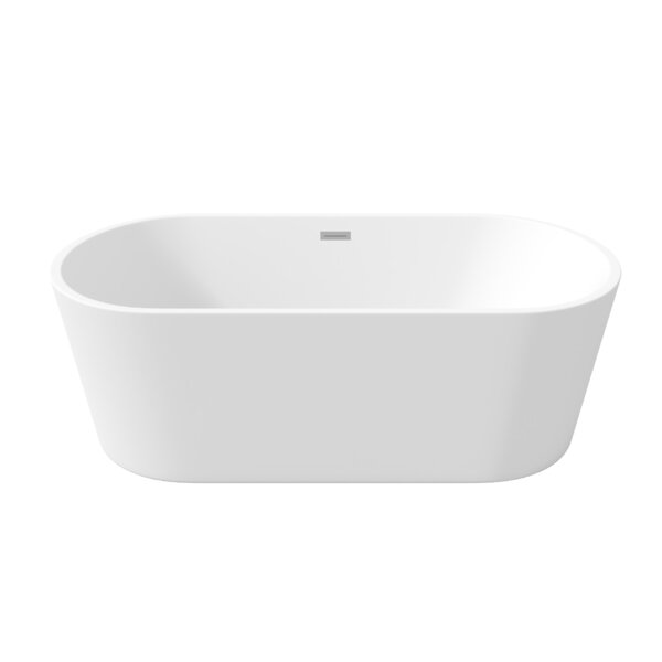Milano 59 x 28 Freestanding Soaking Bathtub by Perlato
