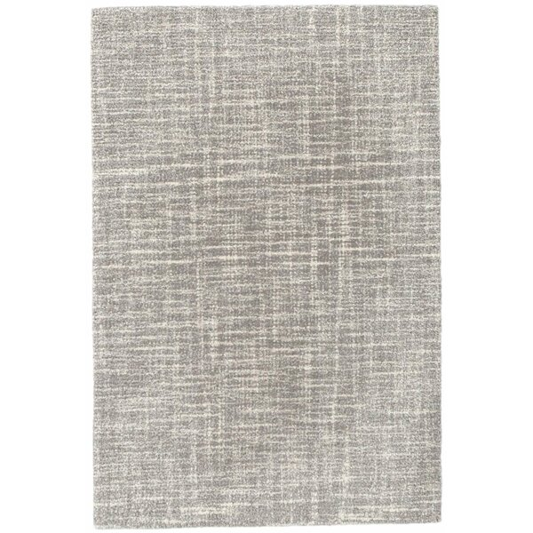 Crosshatch Handmade Hooked Wool Gray Area Rug