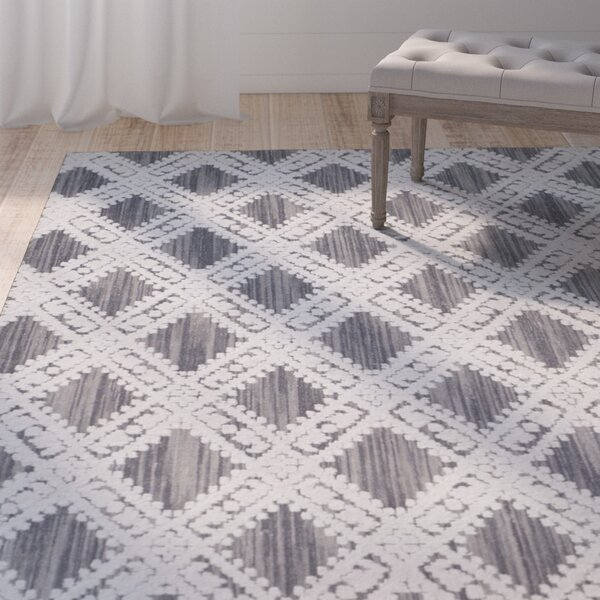 Lizzie Hand-Loomed Gray/Ivory Area Rug by One Allium Way