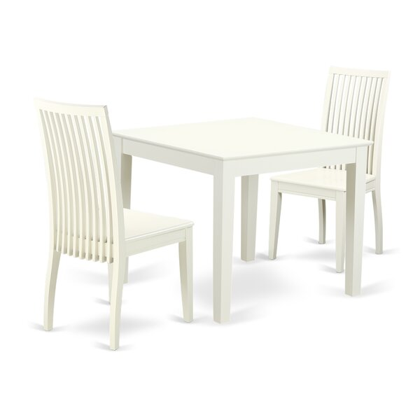 Cobleskill 3 Piece Breakfast Nook Solid Wood Dining Set by Alcott Hill Alcott Hill