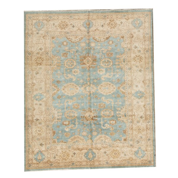 Demirji Hand-Knotted Wool Light Blue/Ivory Rug