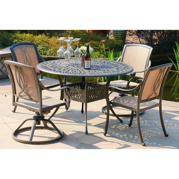 Gunter 5 Piece Dining Set By Fleur De Lis Living