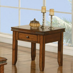 Read Reviews Nashoba End Table with Drawer ByLoon Peak