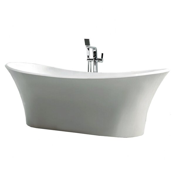Dolly 70.875 x 31.5 Freestanding Soaking Bathtub by Jade Bath