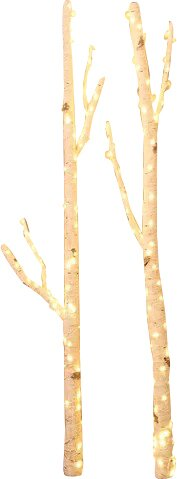 2 Piece Willow Branches with Lights Set by Hi-Line Gift Ltd.
