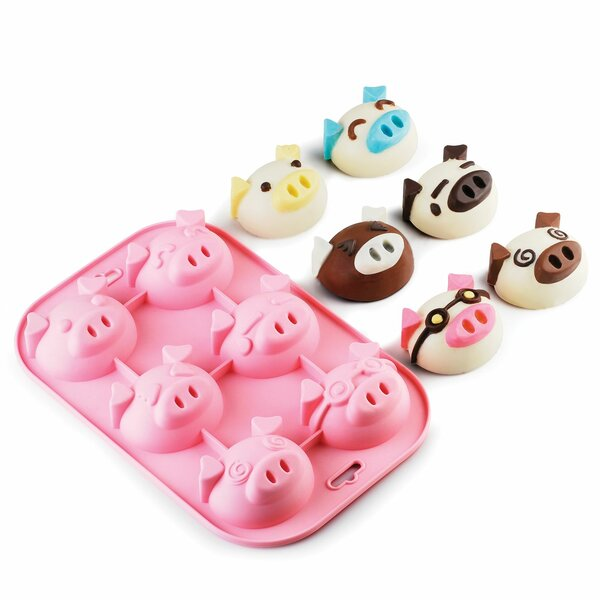 6 Cup Non-Stick Silicone Chocolate and Candy Mold by Innoka